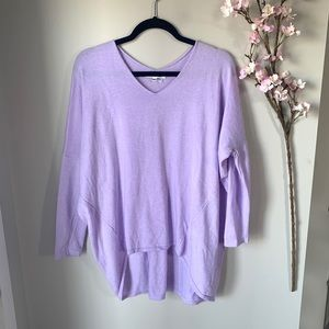 ON THE ROAD / LILAC PURPLE LONG SLEEVE SWEATER